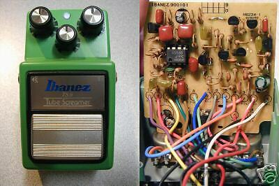 Ibanez TS9 Tubescreamer Overdrive with TS808 Braun Mod