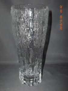 Iittala Glass Finland Vellamo Textured Pattern Vase Designed By Valto Kokko Ebay