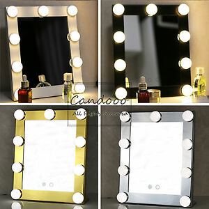 LED Bulbs Vanity Lighted Hollywood Makeup with Dimmer Stage Beauty Mirror