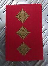 Genuine British Army Gold on Red CAPTAIN Rank Slide / Epaulette - NEW