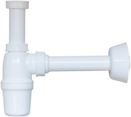 MEROX Kunststoff Flaschensiphon 1 1//4 Zoll mit 32 mm Wandanschluss und Rosette