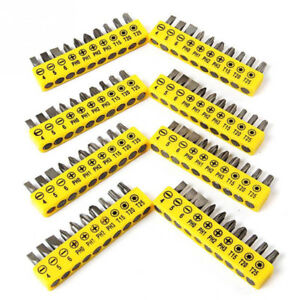 FJ-10Pcs-Set-Different-Sizes-Torx-Slotted-Phillips-Screwdriver-Bits-Tool-Dazzl
