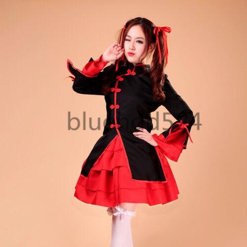 Dancing Girl Lolita Apron Maid Dress Meidofuku Uniform Outfit Cosplay Costumes
