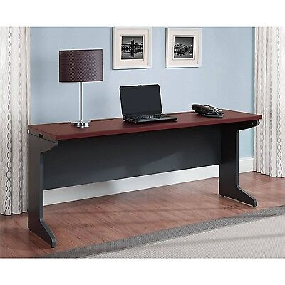Long Computer Desk Credenza Home Office Table Large Work Surface Cherry Gray New EBay