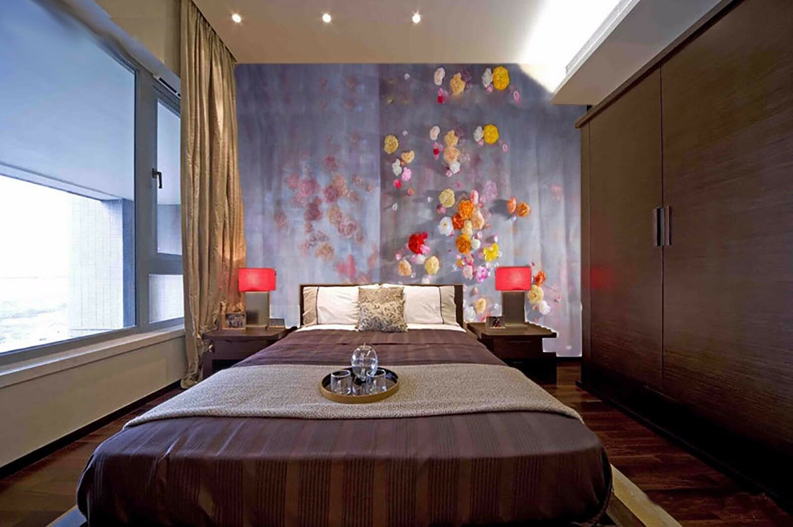 3D Flower wall 3422 Wall Paper Wall Print Decal Wall Deco Indoor Wall Murals