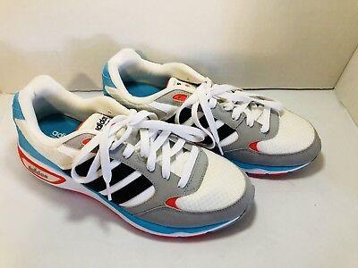 Adidas Cloudfoam 8tis Pastel Red Blue Grey Black White Size 10 *NOT TRUE TO SIZE | eBay