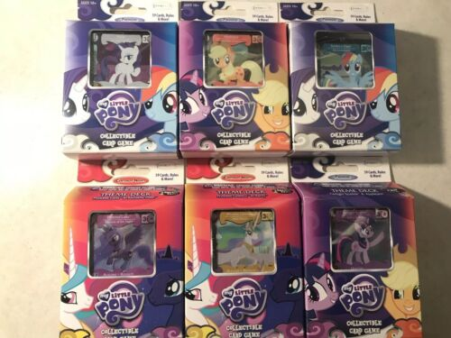 My Little Pony Collectible Card Games 6 Boxes As Shown NIB