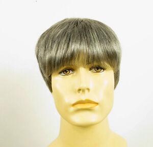 perruque homme 100 cheveux naturel gris poivre et sel ref alan 44 ebay. Black Bedroom Furniture Sets. Home Design Ideas