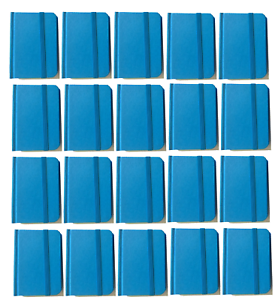 """Bulk Lot 20 Small Blue Hardcover Pocket Notebook Journals 96 Pages 4.5x3/"""" Ruled"""