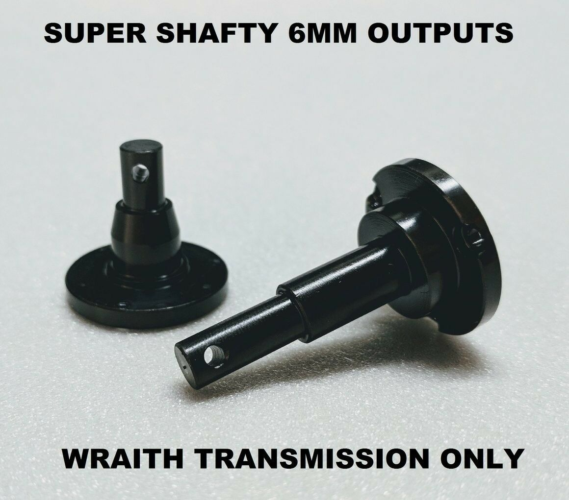 SuperShafty BOMBPROOF 6mm WRAITH hardened Transmission Outputs for axial crawler