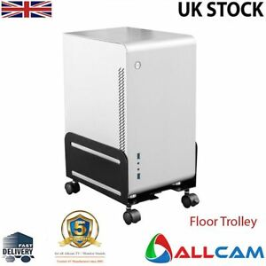 Allcam-CPU-Holder-Mobile-PC-Computer-Floor-Stand-Trolley-w-4-casters-and-locks