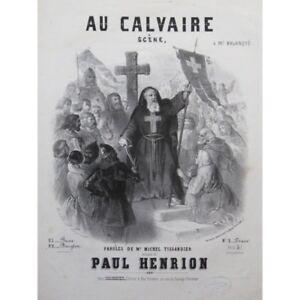 Musikinstrumente Henrion Paulus An Die Calvaire Chant Piano Ca1856 Partitur Sheet Music Score Hohe Sicherheit