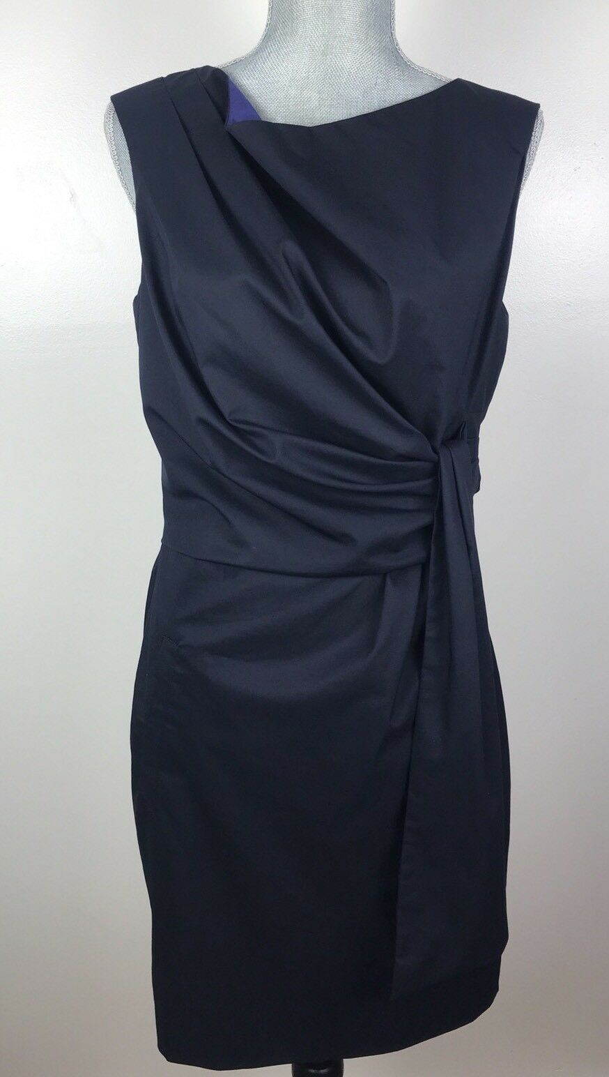 Diane Von Furstenberg Furstenberg Furstenberg SZ 8 bluee Amara Sleeveless Dress Sash Knee Length f6ee4e