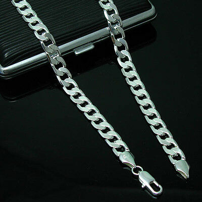 New Wholesale Men's Heavy Solid 925Silver Thick Boy Chain Necklace+Box