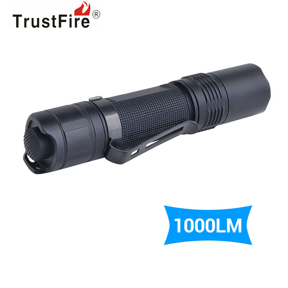 TrustFire Cree LED Tactical Torch Camping Light 5 Modes With Holster 1000 Lumens