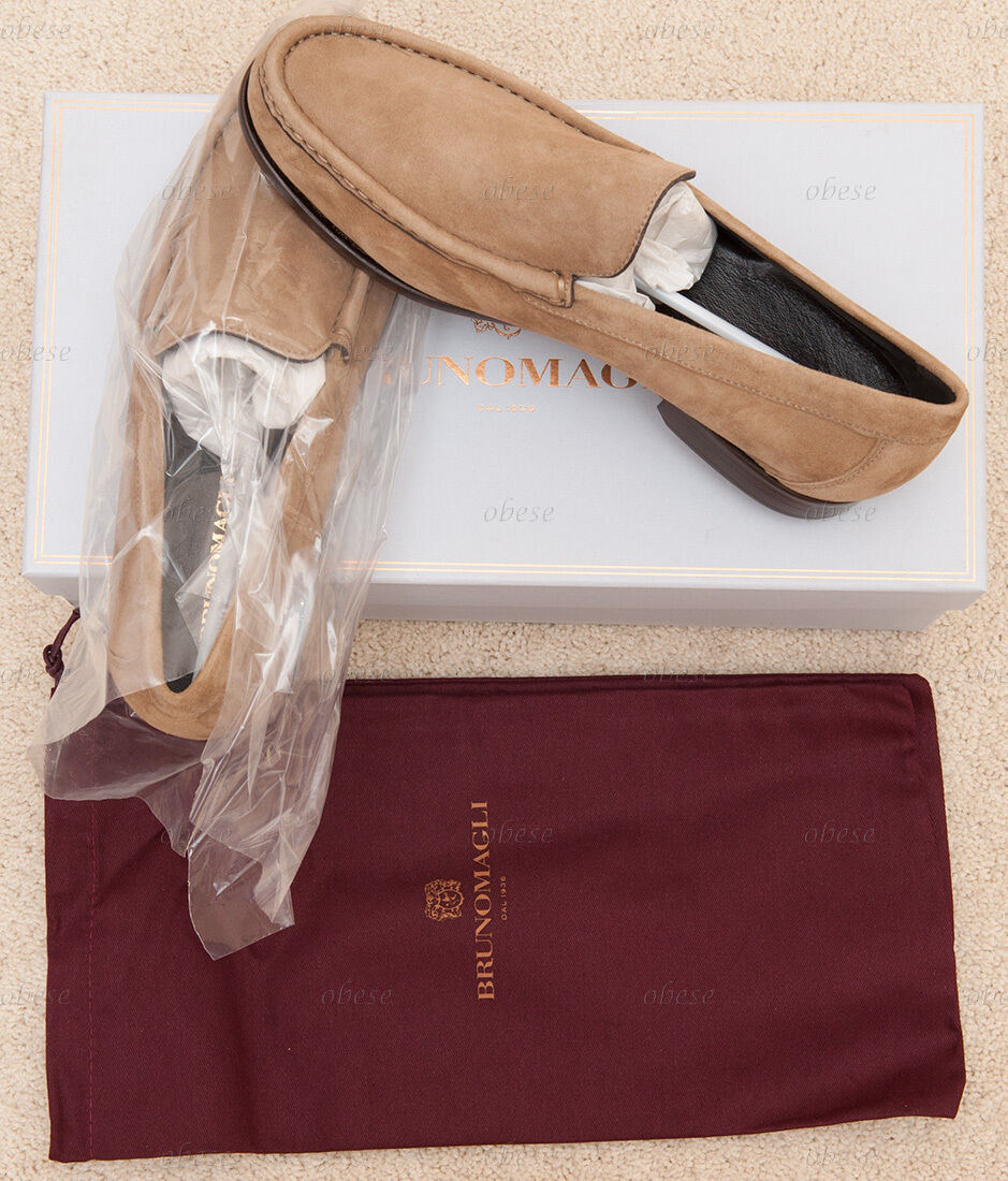 bdc3295b3 Bruno Magli Men s Evasio Slip-on Slip-on Slip-on Suede Loafer US 8.5 M   Taupe  Italy NEW IN BOX! 0a4c34