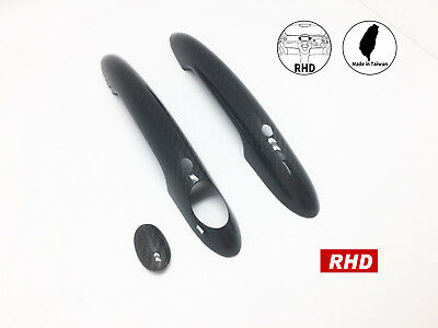 Carbon Fiber Keyless Entry Door Handle Covers Fits 2014 Up
