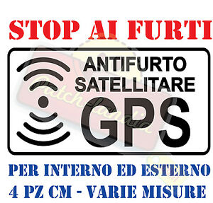 ADESIVO-STICKERS-DECAL-ALLARME-SATELLITARE-GPS-ANTIFURTO-MOTO-AUTO-SCOOTER