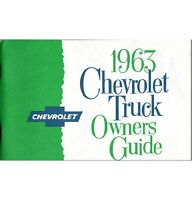 1963 Chevy Truck Owner's Manual