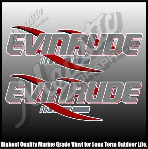OUTBOARD DECALS EVINRUDE 330mm X 100mm X 2