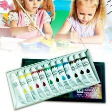 12 Color Acrylic Paint Set 6 Ml Tubes Artist Draw Painting Pigment Y0X8
