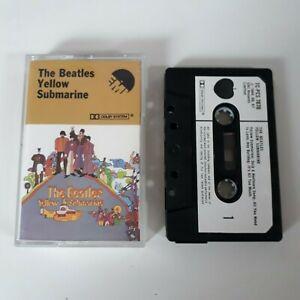 THE-BEATLES-YELLOW-SUBMARINE-CASSETTE-TAPE-1969-WHITE-PAPER-LABEL-EMI-APPLE-UK