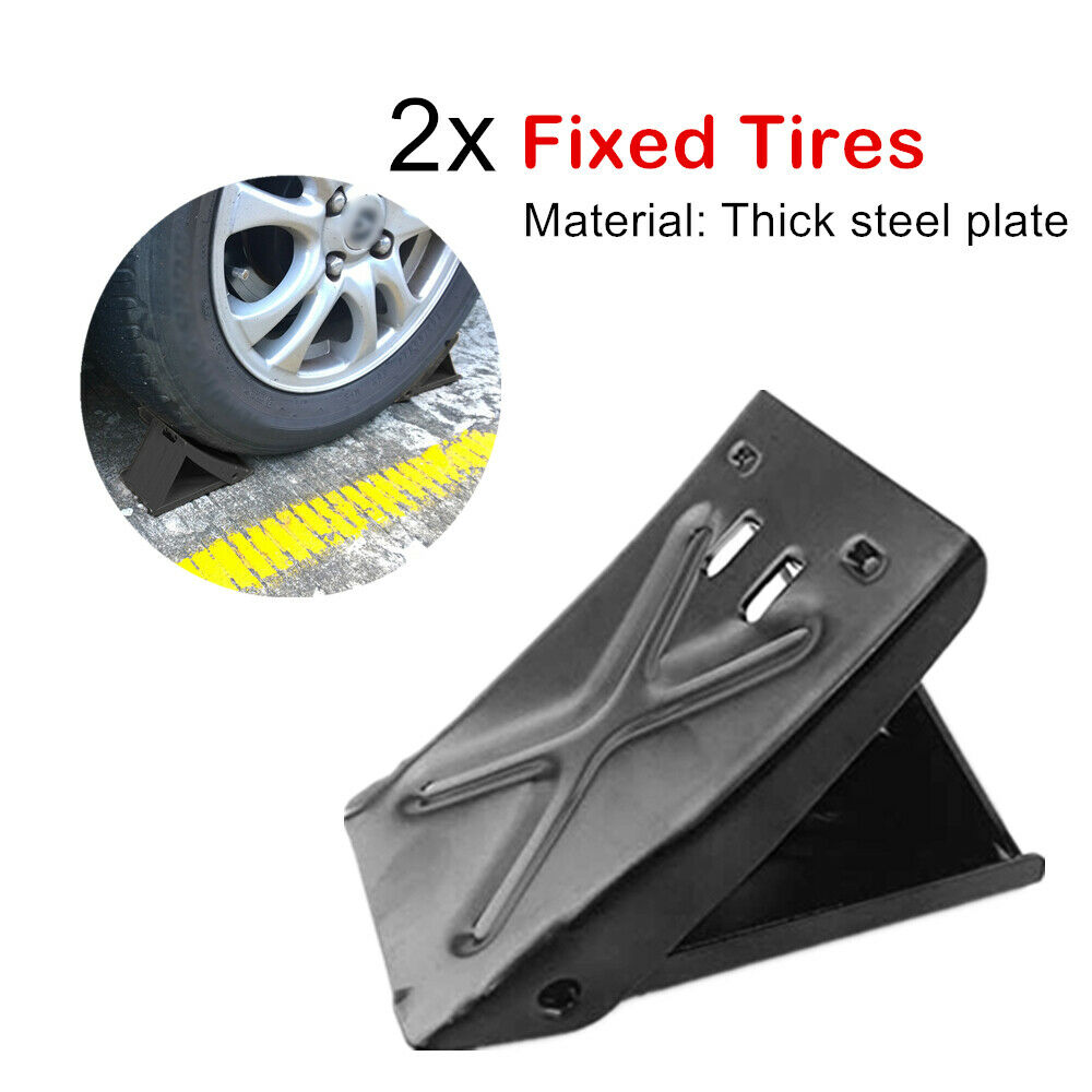 2pcs Car Anti-slip Block Tyre Slip Stopper Wheel Alignment Block Tire Support Pad Slip Stopper