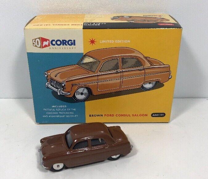 Corgi 50th 50th 50th aniversario AN01101 Marrón Ford Cónsul Saloon Completo En Caja bc46fa