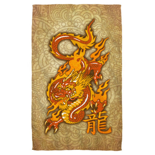 Big ORIENTAL DRAGON Picture Chinese Symbol Lightweight Beach Towel