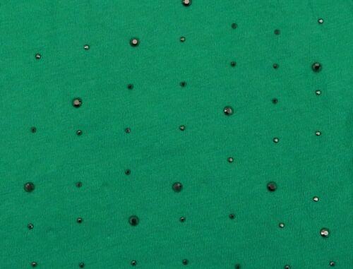 Long Beanie Green Studs Ella Jonte Cotton Spandex Green Long Beanie New