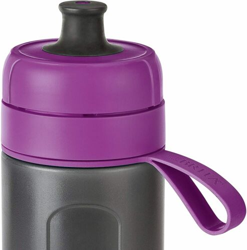 With Filters BRITA Fill and Go Active Sports Water Filter Bottle 600 ml Purple