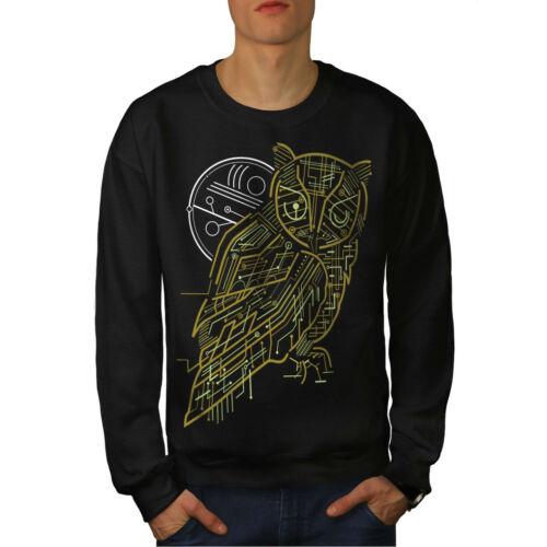 Nature New System Sudadera Hombre Owl Black Animal Oq4pHTw