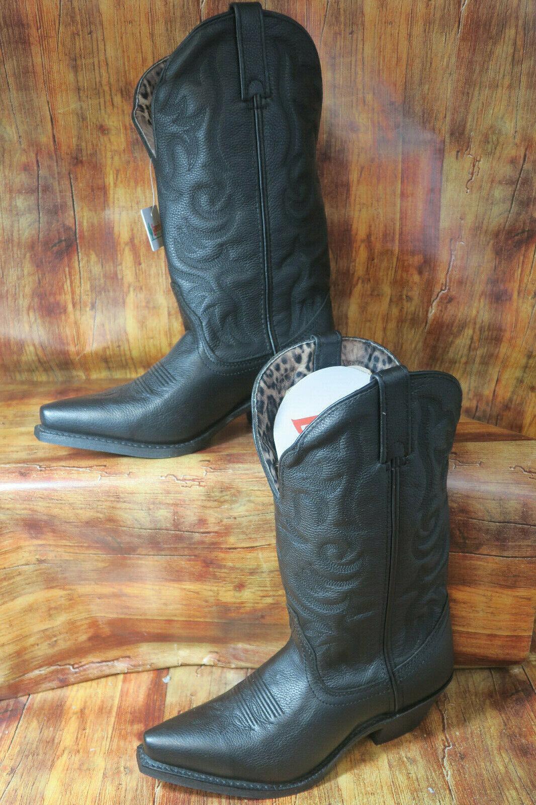 51070 Laredo Women's 9 Access Western Western Western Cowgirl Boots Black Deep Dip  1303 c75e77