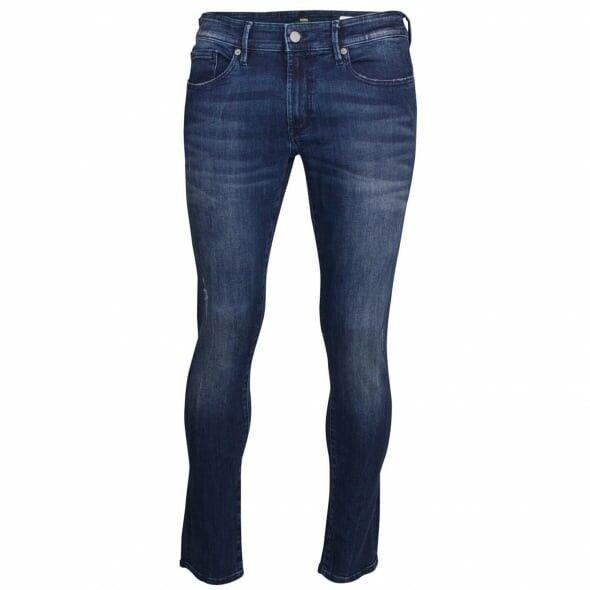 BOSS Casual Men's bluee Wash orange 72 Skinny Jeans