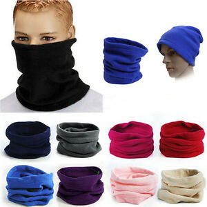 Winter Warm Fleece Snood Scarf Neck Warmer Beanie Ski Balaclava Men Women