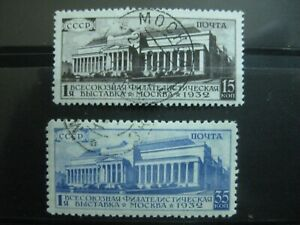 Sowjetunion-Mi-Nr-492-493-Ausstellung-kpl-gest-g30