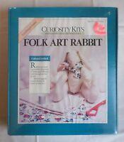 Folk Art Bunny Rabbit Muslin Craft Curiosity Kits Country Primitive Sealed