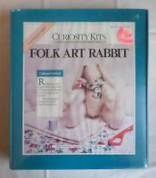 Folk Art Bunny Rabbit Muslin Craft Curiosity Kits Country Primitive Sealed