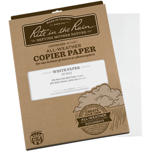 """Waterproof A4  Paper """" Rite in the rain"""" RITR All weather writing paper (White)"""