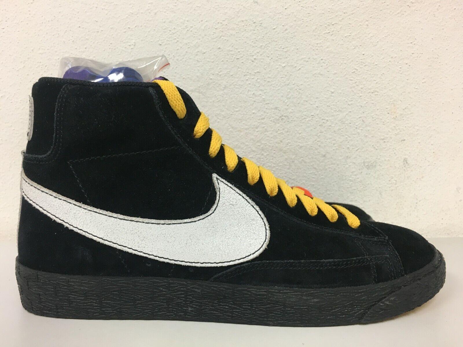 Nike Blazer Mid New York City vs Los Angeles Black White AT9978-001 Size 8