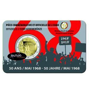 Coincard-2-euros-BELGIQUE-2018-FRANCAIS-Cinquantenaire-de-mai-1968