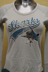 Retro-Brand-Womens-NHL-San-Jose-Sharks-Hockey-Crew-Shirt-NWT-40-M-L-XL