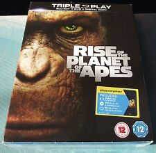 Rise of the Planet of the Apes Triple Play Blu-ray+DVD+Digital+slipcase Brandnew