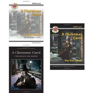 Christmas Carol Text Guide.Details About Charles Dickens Collection 3 Books Set Grade 9 1 Gcse English Text Guide New