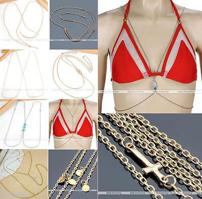 HOT SEXY Belly Waist Beach Bikini Harness Slave Body Link Chain Necklace Jewelry
