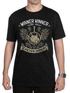 Winner Chicken Dinner Tee T-Shirt Cotton Crew neck Pubg Pioneer Apparel