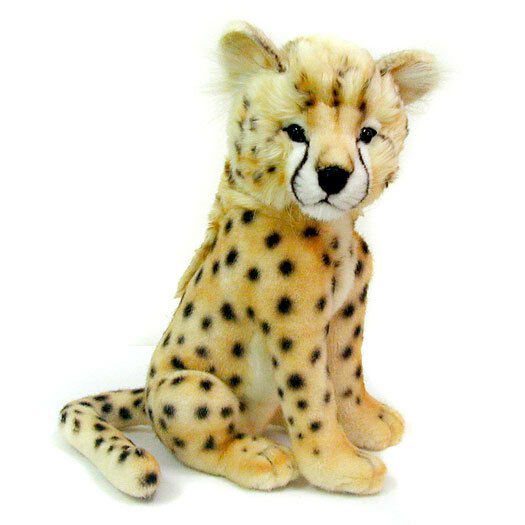Cheetah CUB gree Gatto Da Collezione Peluche Giocattolo morbido realistico da Hansa - 32cm - 2992