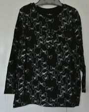 New Gap 100% cotton long sleeve tunic top Black/white age 4