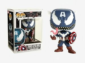 Funko-Pop-Marvel-Venom-Venomized-Captain-America-Bobble-Head-Item-32686