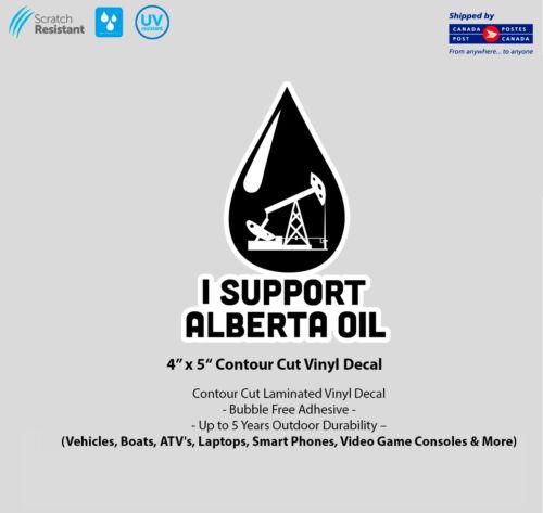 "4/"" x 5/"" I Support Alberta Oil Laminated Vinyl Decal"